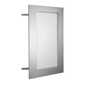 Nimble by Diamond 24-in W x 30-in H x 0.75-in D Frosted Wall Cabinet Door
