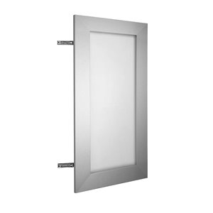 Nimble by Diamond 18-in W x 30-in H x 0.75-in D Frosted Wall Cabinet Door