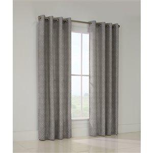 Legacy Heather 84-in Leaf Jacquard Single Curtain Panel