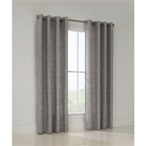 Legacy Heather 95-in Leaf Jacquard Single Curtain Panel