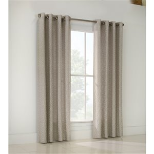 Legacy Damascus 84-in Grey Polyester Single Curtain Panel