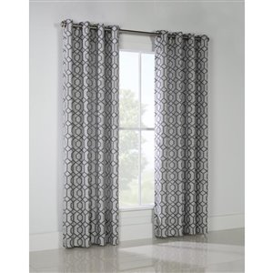 Legacy 84-in Grey Polyester Single Curtain Panel