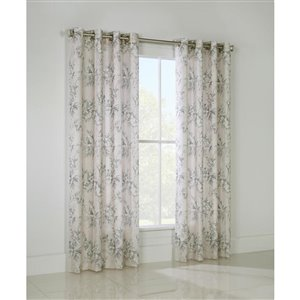 Legacy 84-in English Garden Floral Darkening Single Curtain Panel