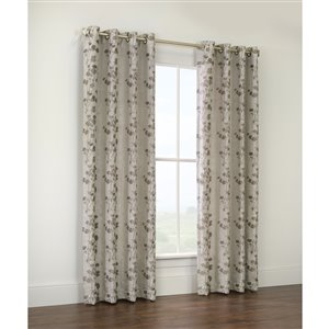 Legacy Oriental Garden 84-in Taupe Single Curtain Panel