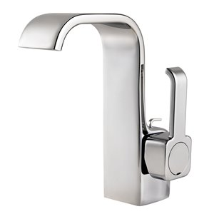 Pfister Skye Polished Chrome 1-Handle Single Hole 4-in Centerset WaterSense Bathroom Sink Faucet with Drain (Valve Included)
