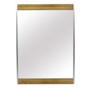 Addison Natural Rectangle Framed Wall Mirror