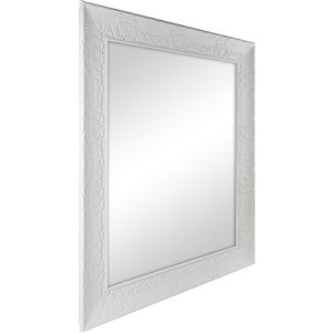 Columbia Frame Chalk White Rectangle Framed French Wall Mirror