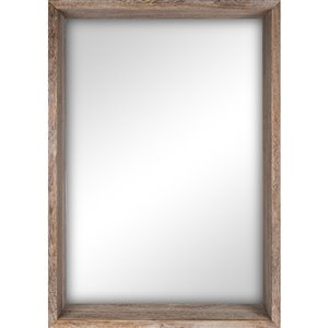 Columbia Frame Reclaimed Wood Rectangle Framed Wall Mirror