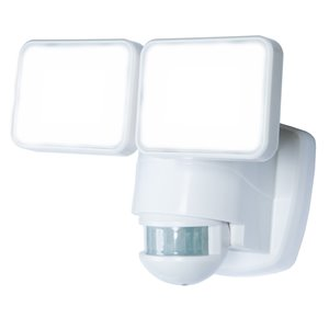 Heath Zenith 180 Degree Of Motion 2-Head White LED Motion-Activated Flood Light