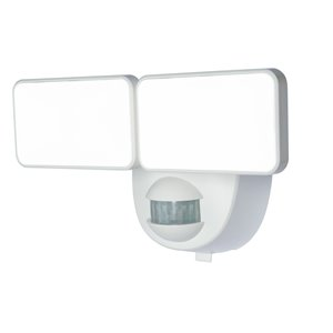 Heath Zenith 180 Degree Of Motion 2-Head White LED Motion-Activated Flood Light HZ-7161-WH