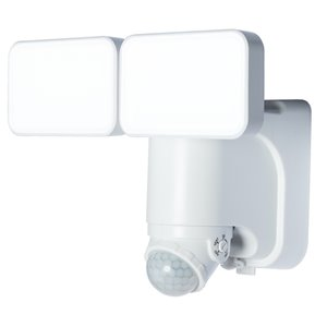 Heath Zenith 180 Degree Of Motion 2-Head White Solar Powered LED Motion-Activated Flood Light