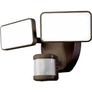 Heath Zenith 180 Degree Of Motion 2 Head Bronze Led Motion