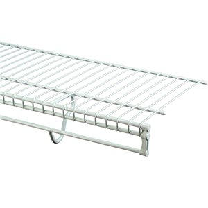 ClosetMaid 12-ft x 12-in White Wire TotalSlide Shelf