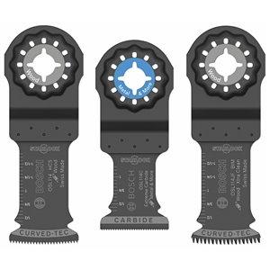 Bosch 3-Piece 1 1/4-in Starlock Oscillating Multi-Tool Accessory Blade Set