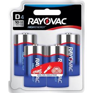 Rayovac D High Energy Battery (4-Pack)