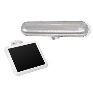 Sunforce 100-Degree 1-Head Off-White Solar Powered LED Motion-Activated Flood Light