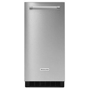 KitchenAid 50-lb Reversible Door Freestanding or Built-In Ice Maker (Stainless Steel)