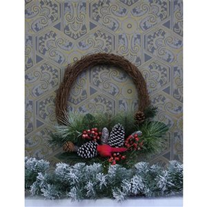 Holiday Living 18-in Unlit Grapevine Artificial Christmas Wreath