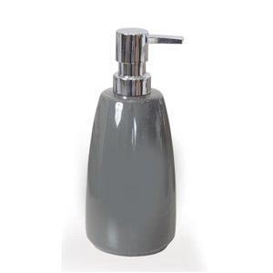 Moda at Home Compel Grey Soap/Lotion Dispenser