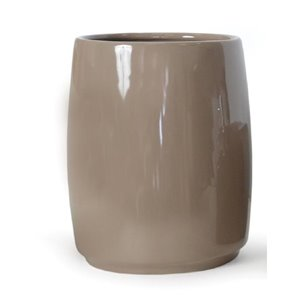 Moda at Home Compel Taupe Ceramic Wastebasket