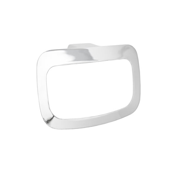 Jamie J Manhattan Gloss White And Chrome Wall Mount Towel Ring Lowe S Canada