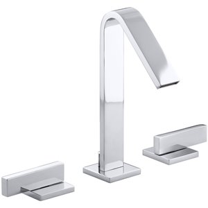 KOHLER Loure Polished Chrome 2-Handle Widespread WaterSense Bathroom Sink Faucet with Drain