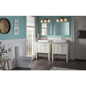 KOHLER Purist Polished Chrome 1-Handle Single Hole WaterSense Bathroom Sink Faucet with Drain
