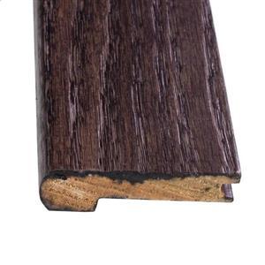 FLEXCO 0.5-in x 78.0-in Dark Chocolate Oak Stair nose Floor Moulding