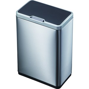 eko mirage 50l stainless steel indoor touchless trash can