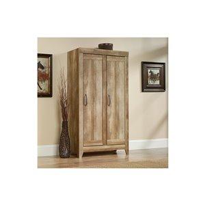 Sauder Craftsman Oak Wide Storage Cabinet