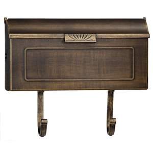 PRO-DF 16-in x 8.25-in Antique Bronze Wall Mount Mailbox
