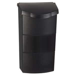 PRO-DF 8.25-in x 13.75-in Plastic Black Wall Mount Mailbox