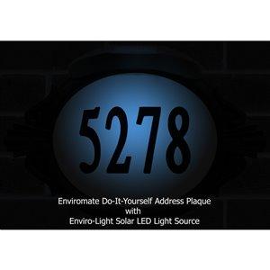 Enviromate Black Aluminum DIY House Address Plaque Kit