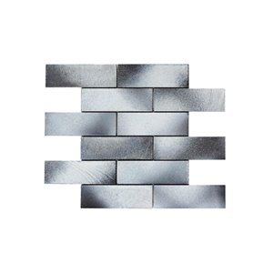Faber 12-in x 12-in Lava Brick Ash Natural Stone Mosaic Floor and Wall Tile