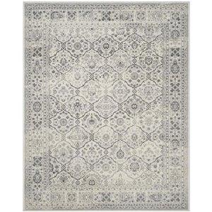 Safavieh Carnegie Rug Cream/Dark Grey Rectangular Indoor Machine-Made Distressed Area Rug (Common: 5 x 7; Actual: 5.083-ft W x
