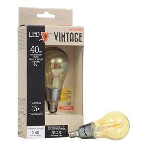 SYLVANIA 40-Watt/380 Lumens Candelabra Base (E-12) A15 LED Light Bulb (1-Pack)