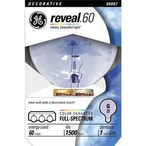 GE 60-Watt Color-Enhancing Decorative Incandescent Light Bulb