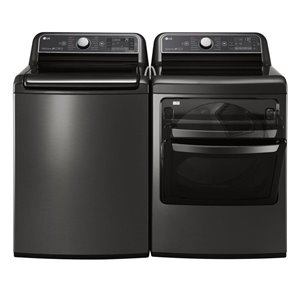 LG 6.0 cu ft High-Efficiency Top-Load Steam Washer (Black Stainless Steel) ENERGY STAR