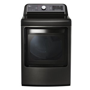 LG 7.3-cu ft Electric Steam Dryer (Black Stainless Steel) ENERGY STAR