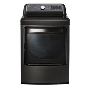 LG 7.3-cu ft Electric Steam Dryer (Black Stainless Steel) ENERGY STAR