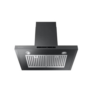 Samsung 30-in 600 CFM Wall-Mounted Range Hood (Black Stainless Steel)