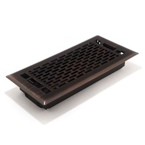 Accord Select 3-in x 10-in Oil-Rubbed Bronze Manhattan Floor Register