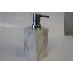 Moda at Home Quarry White/Grey Soap/Lotion Dispenser