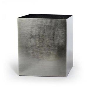Moda at Home Steely Metal Wastebasket