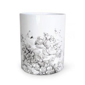 Moda at Home Watercolour White/Black Ceramic Wastebasket