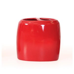 Moda at Home Compel Toothbrush Holder Red