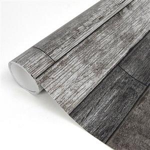NuWallpaper Peel and Stick Beige Vinyl Wood Wallpaper ...
