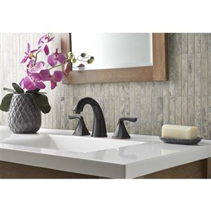 Pfister Selia Tuscan Bronze 2-Handle Widespread WaterSense Bathroom Sink Faucet with Drain (Valve Included)