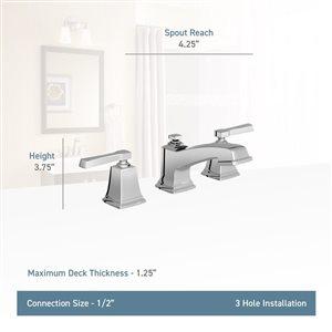 Moen Boardwalk Spot Resist Brushed Nickel 2-Handle Widespread WaterSense Bathroom Sink Faucet with Drain (Valve Included)