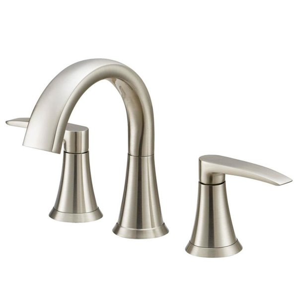 Jacuzzi Lyndsay Brushed Nickel 2 Handle Widespread Watersense Bathroom Sink Faucet With Drain Valve Included Lowe S Canada
